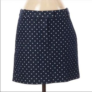 5/$25 J. Crew Crewcuts dot jean denim skirt 14